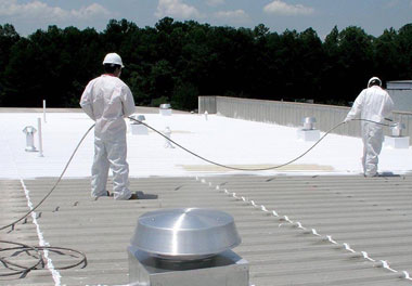 flat roof: acrylic roof coatings