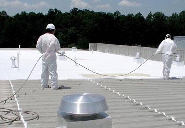 flat roof: acrylic roof coatings